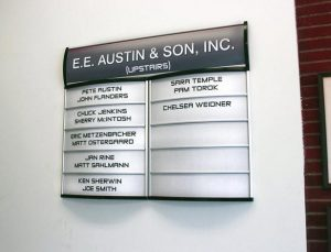 Custom Office Building Directory- Pompano Beach, FL