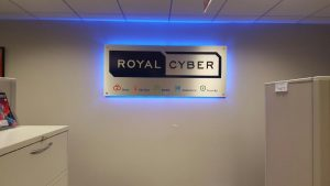 Royal Cyber Backlit Lobby Sign
