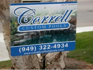 Custom Pool Repair and Installation Yard Sign